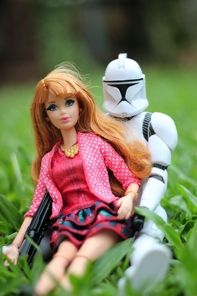 Barbie e Stormtrooper