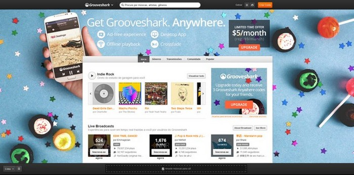 interface - grooveshark